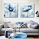 cheap Oil Paintings-Stretched Canvas Prints Modern, Two Panels Canvas Square Print Wall Decor Home Decoration