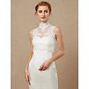 זול עליוניות לחתונה-ללא שרוולים תחרה / טול חתונה / מסיבה\אירוע ערב כיסויי גוף לנשים עם אפליקציות / רוכסן וסטים