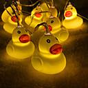 זול חוט נורות לד-3 M חוטי תאורה 20 נוריות לבן חם 1set
