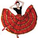 זול הלבשה לריקודים סלוניים-ריקודים סלוניים חלקים תחתונים בגדי ריקוד נשים הדרכה פוליאסטר סרט גומי דמוי גל ללא שרוולים נפול חצאיות