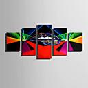 זול הדפסים-הדפסי בד מתוחים מודרני, חמישה פנלים בַּד אנכי דפוס דקור קיר קישוט הבית