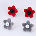 cheap Earrings-Women's Stud Earrings - Floral / Botanicals, Flower Fashion Gray / Red For Daily