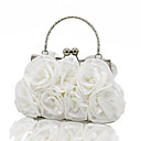 cheap Clutches & Evening Bags-Women's Bags Polyester / Satin Evening Bag Lace / Ruffles Animal Silver / Red / Blushing Pink