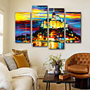 cheap Famous Paintings-Canvas Print Modern, Four Panels Canvas Vertical Print Wall Decor Home Decoration