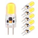 abordables Soportes para Regalo-6pcs 2W 350-380lm G4 GY6.35 Luces LED de Doble Pin 1 Cuentas LED COB Regulable Blanco Cálido Blanco Fresco 12V