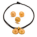 cheap Jewelry Sets-Women's Jewelry Set - Gold Plated Fashion, Statement Include Gold For Wedding / Party