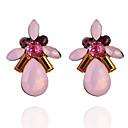 preiswerte Modische Ohrringe-Damen Kristall Ohrstecker - Krystall, Diamantimitate Tropfen Modisch Blau / Rosa / Leicht Grün Für Alltag Ausgehen