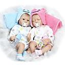 preiswerte Sensoren-NPKCOLLECTION Lebensechte Puppe Baby Mädchen 22 Zoll Silikon - Neugeborenes lebensecht Niedlich Kindersicherung Non Toxic Handaufgetragene Wimpern Kinder Unisex / Mädchen Spielzeuge Geschenk