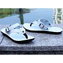 tanie Kopertówki i torebki wieczorowe-Męskie Komfortowe buty PU Wiosna / Lato Klapki i japonki Biały / Czarny