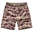 povoljno Muške duge i kratke hlače-Muškarci Sportski Veći konfekcijski brojevi Pamuk Slim Kratke hlače Chinos Hlače - Print, Karirani uzorak