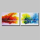 זול ציורי שמן-ציור שמן צבוע-Hang מצויר ביד - מופשט L ו-scape מודרני בַּד