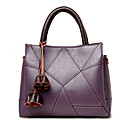 cheap Top Handles & Tote Bags-Women's Flower Tote PU(Polyurethane) Gray / Purple / Yellow / Fall & Winter