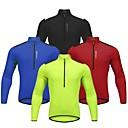 hesapli Bisiklet Formaları-WOSAWE Erkek Uzun Kollu Bisiklet Forması - Kırmzı / Yeşil / Mavi Bisiklet Forma, Yansıtıcı çizgili