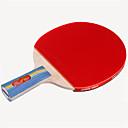 זול שולחן טניס-DHS® E306 Ping Pang/מחבטי טניס שולחן עץ גוּמִי 3 כוכבים ידית קצרה