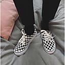 זול מגפיים לגברים-בגדי ריקוד גברים קנבס אביב / סתיו נוחות נעלי ספורט קולור בלוק שחור לבן
