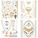 baratos Tatuagens Temporárias-4 pcs Tatuagem Adesiva Tatuagens temporárias Séries Totem / Séries de Jóias Impermeável Arte para o Corpo Corpo / Mãos / Braço