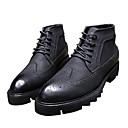 זול נעלי אוקספורד לגברים-בגדי ריקוד גברים נעלי נוחות PU סתיו / חורף מגפיים שחור
