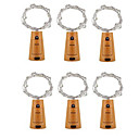 cheap iPhone Cases-6pcs 2m 20led Cork Shaped Bottle Stopper Lamp Glass Wine Silver Copper Wire String Lighting Christmas Party Wedding Decoration