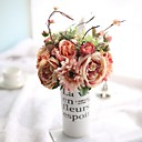 זול פרחים מלאכותיים-פרחים מלאכותיים 6 ענף ארופאי / פרחי חתונה ורדים פרחים לשולחן