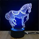 baratos Novidades em Iluminação-1conjunto Luz noturna 3D Toque 7 cores DC Powered O stress e ansiedade alívio Com porta USB Cores Variáveis