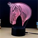 olcso Falfestmény-1set 3D éjszakai fény DC táplálás Stressz és szorongás oldására / Színváltós / USB porttal 5 V