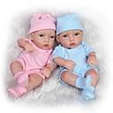 זול בובות-NPK DOLL בובה מחדש תינוקות בנות 10 אִינְטשׁ גוף מלא סיליקון / סיליקון / ויניל - כְּמוֹ בַּחַיִים, ריסים ידניים, ציפורניים אטומות וחותמות הילד של יוניסקס מתנות / עור טבעי / ראש דיסקט