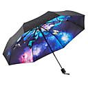 abordables Paraguas/Parasol-Tejido Mujer Soleado y lluvioso / A prueba de Viento / nuevo Paraguas de Doblar
