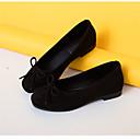 billige Flate sko til damer-Dame Sko PU Høst Komfort Flate sko Flat hæl Rund Tå Appliqué Rød / Rosa / Kakifarget