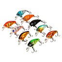 cheap Rings-9 pcs Fishing Lures Minnow Sea Fishing / Fly Fishing / Bait Casting / Ice Fishing / Spinning / Jigging Fishing / Freshwater Fishing / Carp Fishing
