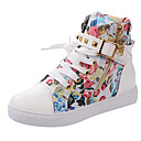 cheap Women's Sneakers-Women's Shoes Canvas Spring / Fall Comfort Sneakers Flat Heel Black / Red / Blue