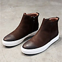 cheap Men's Slip-ons & Loafers-Men's Combat Boots Pigskin Spring / Fall Boots Booties / Ankle Boots Black / Coffee