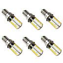 رخيصةأون لمبات LED-BRELONG® 6PCS 5W 500lm E14 أضواء LED ذرة 80 الخرز LED SMD 3014 أبيض دافئ أبيض 220-240V