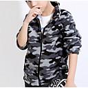 tanie Zestawy ubrań dla chłopców-Dzieci Dla chłopców Vintage Codzienny Geometric Shape Długi rękaw Poliester Kurtka / płaszcz Czarny
