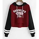cheap Necklaces-Women's Long Sleeves Hoodie - Print Letter