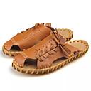 זול נעלי בד ומוקסינים לגברים-בגדי ריקוד גברים PU קיץ נוחות כפכפים & כפכפים לבן / שחור / חום