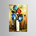 tanie Obrazy: motyw ludzi-Hang-Malowane obraz olejny Ręcznie malowane - Martwa natura Nowoczesny Naciągnięte płótka / Rozciągnięte płótno
