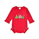 זול חלקים תחתונים לתינוקות בנים-בנות כותנה מכנסיים - דפוס פפיון אודם 80 / חמוד / חגים