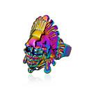 voordelige Herenringen-Heren Statement Ring - Schedel Rock, Kleurrijk 9 Goud / Zilver / Regenboog Voor Club / Bar
