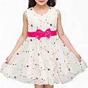 זול שמלות לבנות-שמלה כותנה פוליאסטר אביב קיץ ללא שרוולים יומי פרחוני הילדה של פשוט חמוד לבן ורוד מסמיק בז'