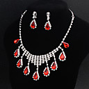 cheap Jewelry Sets-Women's Jewelry Set - Flower European, Fashion Include Red For Wedding Daily