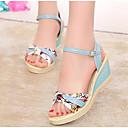 ieftine Sandale de Damă-Pentru femei Pantofi PU Primăvară / Vară Confortabili Sandale Toc Platformă Alb / Roz / Albastru Deschis / Tocuri de toc