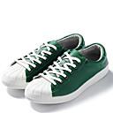 זול סניקרס לגברים-בגדי ריקוד גברים PU סתיו / חורף נוחות נעלי ספורט קולור בלוק שחור / אדום / ירוק