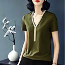cheap Dance Boots-Women's Cotton T-shirt - Solid Colored V Neck