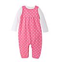 זול אוברולים טריים לתינוקות-סט של בגדים כותנה שרוול ארוך אחיד יום יומי בנות תִינוֹק / חמוד