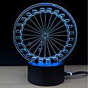 billige TV-bokser-1set LED Night Light / 3D nattlys Endring DC-drevet Fargeskiftende / Kreativ / Dekorasjon 5 V