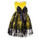 זול שמלות לבנות-שמלה כותנה פוליאסטר קיץ ללא שרוולים יומי אחיד הילדה של פשוט פול אודם צהוב