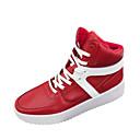 tanie Adidasy męskie-Męskie Komfortowe buty PU Wiosna / Jesień Adidasy Biały / Czarny / Czerwony