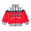 tanie Zestawy ubrań dla dziewczynek-Brzdąc Unisex Aktywny Codzienny / Sport Nadruk Długi rękaw Regularny Bawełna Odzież puchowa / pikowana Czerwony 130