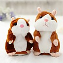 cheap Stuffed Animals-Little Talking Hamster Mouse Hamster Stuffed Animal Plush Toy Cute Walking Talking Vibrate Nods Repeats What You Say Electric Gift 1pcs