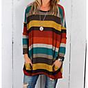 זול פאזל מבוכים וסדרות-פסים בסיסי בלוק צבע טישרט - בגדי ריקוד נשים